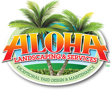 Logo design for Aloha Landscaping and Services of Clearwater, Florida.