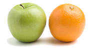 The difference between us and other marketing companies: apples and oranges.