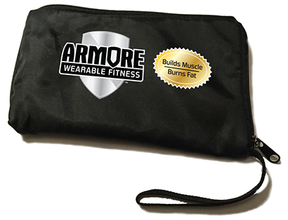 Logo and packaging design for Armore Wearable Fitness.