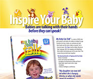 "Magazine ad design for Baby Hands Productions ""My Baby Can Talk""."