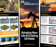 Large format presentation displays for Titan Oil Recovery.