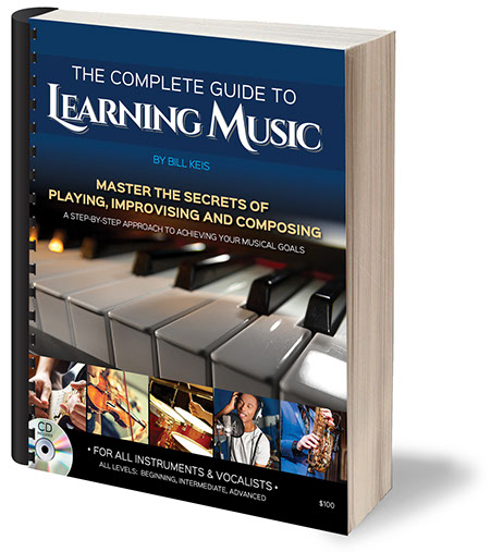 "Book cover design for Bill Keis ""The Complete Guide to Learning Music""."