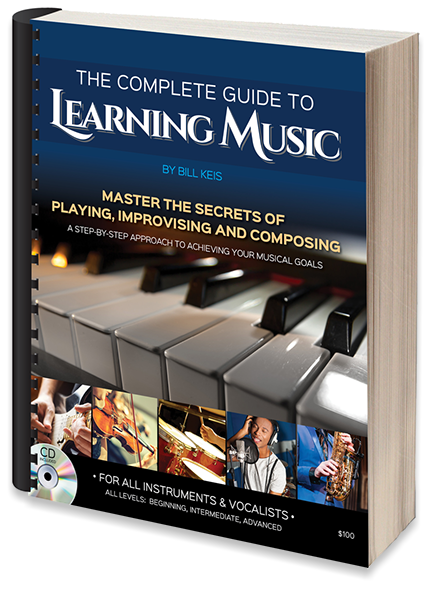 "Book cover design for Bill Keis Music: ""The Complete Guide to Learning Music""."
