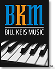 Logo designed for Bill Keis Music by Design Strategies, Inc.
