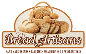 Logo and branding for The Bread Artisans fine breads and pastries in Florida.