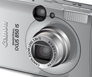 Illustration of Canon point and shoot camera.