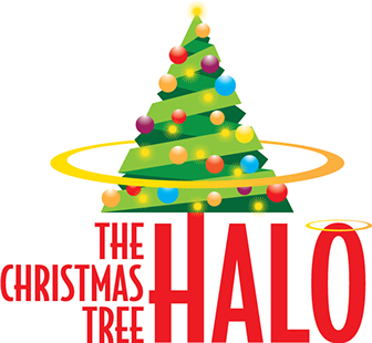 "Logo design for ""The Christmas Tree Halo"" product by Design Strategies."