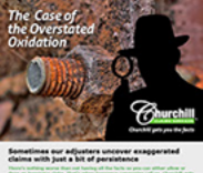 Email marketing campaign for Churchill Claims Services.