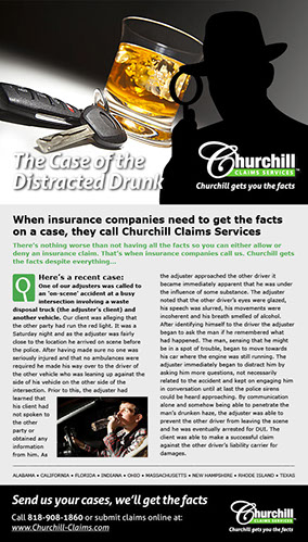 Successful email campaign for Churchill Claims Services in Largo, Florida.