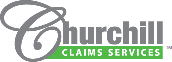 Logo designed for Churchill Claims Services, an independent insurance investigation company based in Largo, Florida.