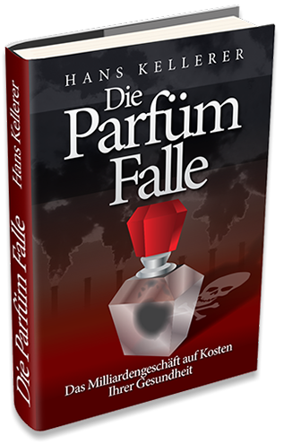 "Book cover design for ""The Perfume Trap"" by Hans Kellerer."