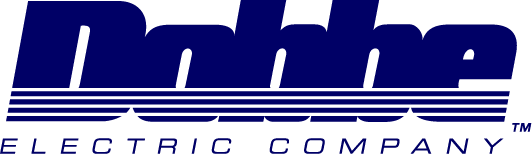 Logo designed for Dobbe Electric in California. This was the first logo we designed back in 1989 using a Macintosh computer.