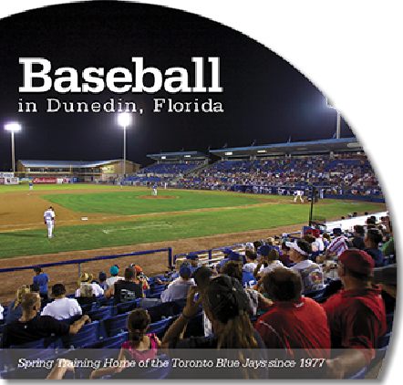 Brochure design for the City of Dunedin Parks and Recreation Department, showcasing their baseball stadium. Includes photography shot by us.