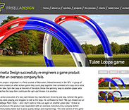 Web site development for Frisella Design, engineering company.