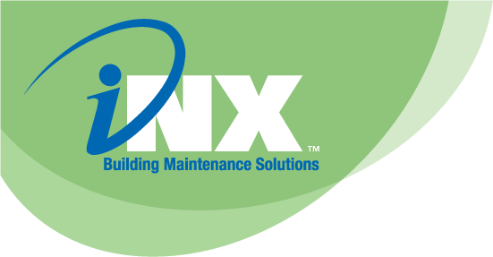 Logo created for iNX Building Maintenance Solutions of California.