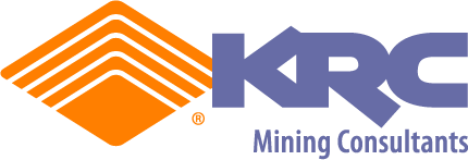 Logo created for KRC Mining Consultants of Sydney, Australia.