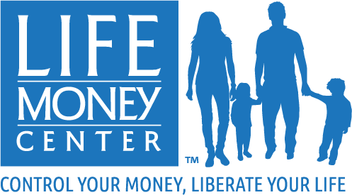 Logo design and branding for the Life Money Center of Albuquerque, New Mexico.