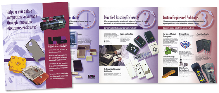Brochure designed for LMB Packaging Solutions Group of California.