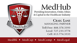 Business card design for MedHub, LLC.