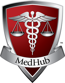 Logo created for MedHub Group of Companies, dealing with debt and financial management.