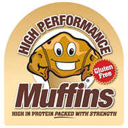Logo created for High Performance Muffins product.