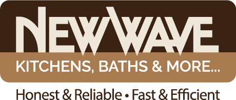 Logo design for New Wave Kitchens, Baths and More of Clearwater, Florida