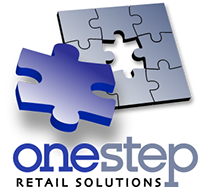 Logo created for OneStep Retail Solutions in California.