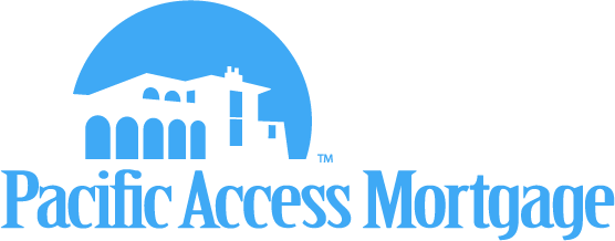 Corporate logo designed for Pacific Access Mortgage in California.