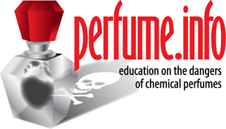 Branding design for Perfume.info, an ecudational web site detailing the toxins contained in chemical fragrances, located in Germany.