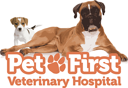 Pet First Veterinary Hospital logo designed by Design Strategies, Inc.