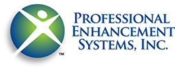 Logo designed for Professional Enhancement Systems in Florida, administration training center.