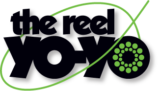 Product logo design for the Reel Yo-Yo, an aluminum yo-yo shaped like a fishing reel, manufactured by Seastrom in California.