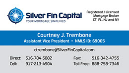 Business card designs for Silver Fin Capital by Design Strategies, Inc.