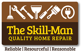The Skill-Man logo design we created for Rob Skillman. Yes, that's his real name.