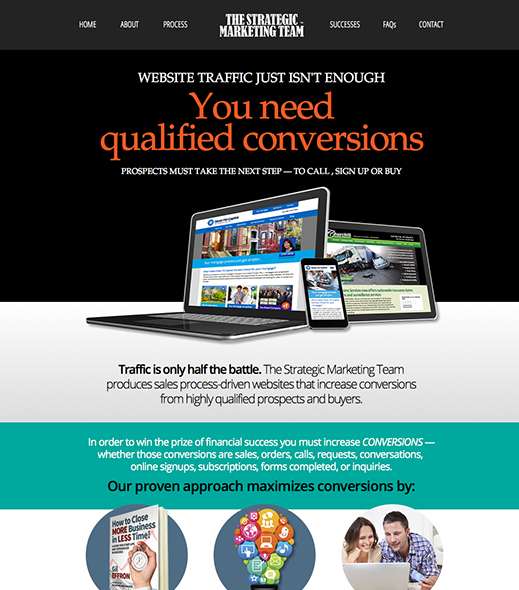 Web site design for The Strategic Marketing Team, based in Hudson and Tampa, Florida.
