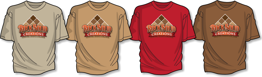 Rock Solid logo optimized for t-shirts for construction staff.