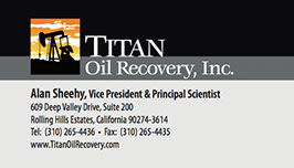 Business card design for Titan Oil Recovery.