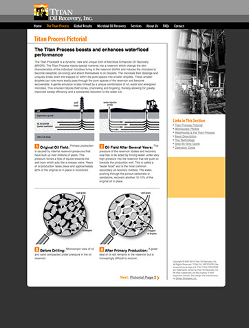 Web design for Titan Oil Recovery.