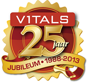 Logo design for Vitals 25th Anniversary by Design Strategies, Inc.