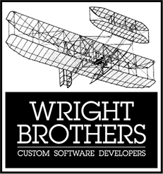 Logo design for Wright Brothers Custom Software Developers.