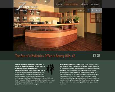 Web site design for ZdesignOne in California.
